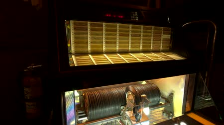 collectible : Chicago, USA - September 10, 2018: Working retro vinyl jukebox at Green Mill jazz cafe