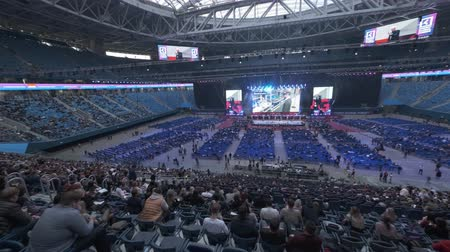 concertgebouw : Saint Petersburg, Russia - October 4, 2019: Businessmen attend large educational forum at Gazprom Arena Stadium