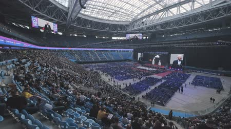 concertgebouw : Saint Petersburg, Russia - October 4, 2019: Business people attend large educational forum at Gazprom Arena Stadium