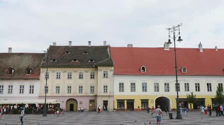 더 : Old Town Large Square. Sibiu, Romania