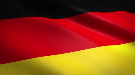 união europeia : Germany Flag Loop - waving flag with highly detailed fabric texture seamless loop video. Seamless loop with highly detailed fabric texture. Loop ready in HD resolution Stock Footage