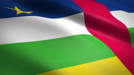 národnost : Flag of Central African Republic. Waving flag with highly detailed fabric texture seamless loopable video. Seamless loop with highly detailed fabric texture. Loop ready in HD resolution Dostupné videozáznamy