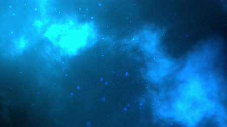 Abstract blue space galaxy background animation and Bubble Particles. Seamless Loop Sky Animation in 4K