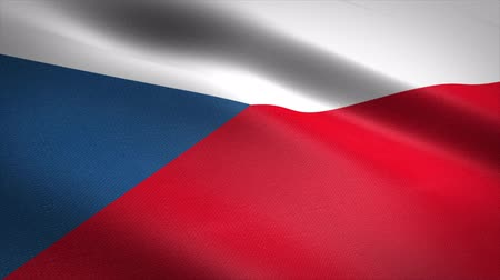 Czech Republic seamless loop video. Seamless loop with highly detailed fabric texture. Loop ready in 4K resolution Stock mozgókép