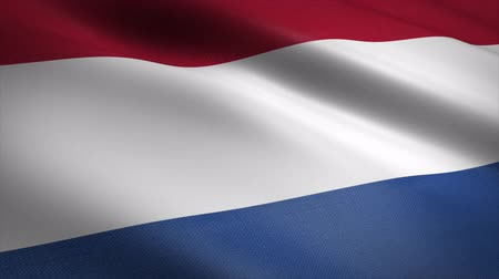 Flag of the Netherlands - waving flag with highly detailed fabric texture seamless loopable video. Seamless loop with highly detailed fabric texture. Loop ready in 4K resolution