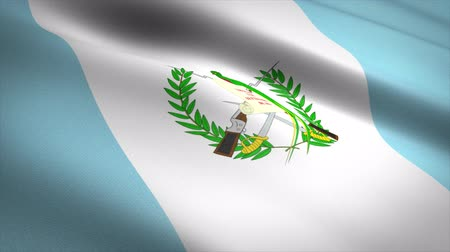 Flag of Guatemala. Waving flag with highly detailed fabric texture seamless loopable video. Seamless loop with highly detailed fabric texture. Loop ready in 4K resolution