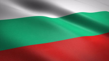 Flag of Bulgaria. Waving flag with highly detailed fabric texture seamless loopable video. Seamless loop with highly detailed fabric texture. Loop ready in 4K resolution Stock mozgókép