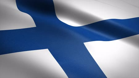 Finland Flag Loop - waving flag with highly detailed fabric texture seamless loop video. Seamless loop with highly detailed fabric texture. Loop ready in 4K resolution