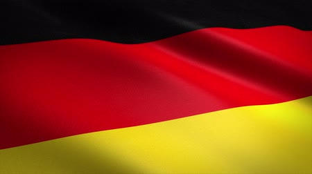 Germany Flag Loop - waving flag with highly detailed fabric texture seamless loop video. Seamless loop with highly detailed fabric texture. Loop ready in 4K resolution Stock mozgókép