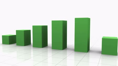 növekvő : Growing Bar Graph Stock mozgókép