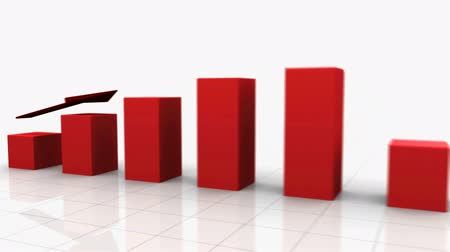 sintonia : Growing Bar Graph Stock Footage