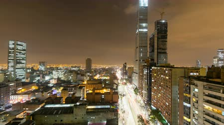 bogota : Amazing day to night time-lapse of the downtown skyline in Bogota, Colombia. Stock Footage