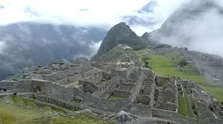 pré histórico : View of the ancient Inca City of Machu Picchu. The 15-th century Inca site.Lost city of the Incas. Ruins of the Machu Picchu sanctuary. UNESCO World Heritage site