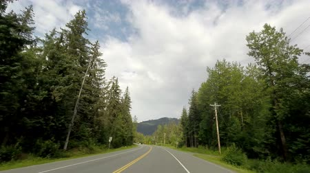 rv park : Driving on a Mountain Highway in Alaska Stock Footage