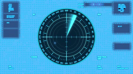 blip : Futuristic user interface isolated on transparent background.Radar with target on map. HUD Stock Footage
