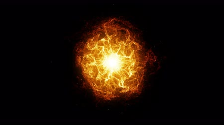 fireball : Inferno fireball. Abstract burning sphere with glowing flames