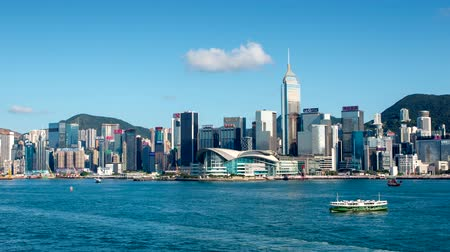 Hong Kong - July 28 2018: The Hong Kong Convention and Exhibition Centre (HKCEC ) is one of the two major convention and exhibition venues in Hong Kong.
