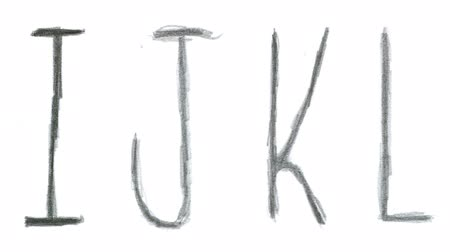 ołówek : Animated sketch-style english alphabet.