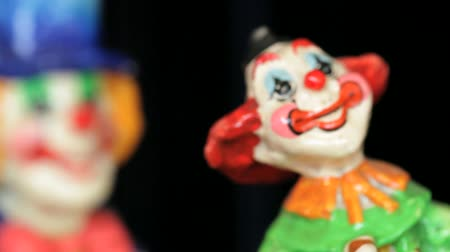 manmade : Different shots of  the clown statuettes in Akvamarine circus. Many  figurines.