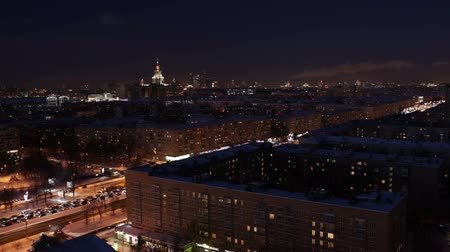 stalinist : Night city time lapse. Stock Footage