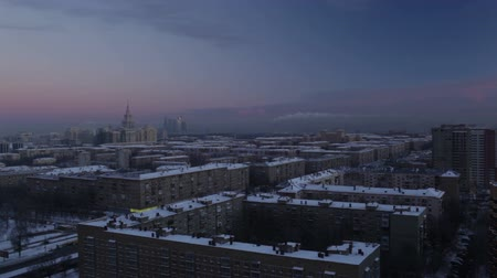 stalinist : Sunrise over the city. Time lapse.