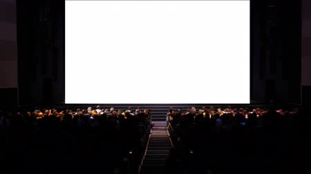 stage theater : Viewers in the cinema house. Variant II. Screen size was 59.4 percent scaled from hd.