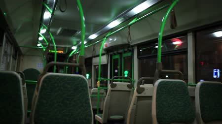inside bus : View inside the night bus.