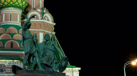 catedral : St. Basil (Cathedral of the Protection of the Virgin on the Ditch) Moscow Stock Footage