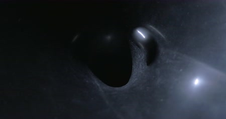gravitace : Close-up shot of a ball finishing its circular way in the hole of vortex. Gravitational field model of black hole