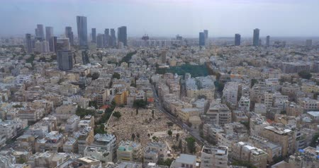 плотно : Aerial daytime panorama of densely populated Tel Aviv with lots of typical houses and skyscrapers, Israel
