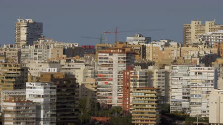 City view with lots of highrise apartment blocks. Built up residential area in Alicante, Spain