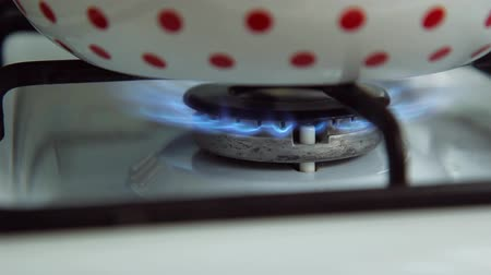 concoction : Gas fire burns Stock Footage