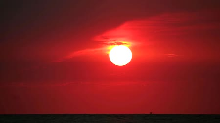 розы : sunset back red cloud on the sea