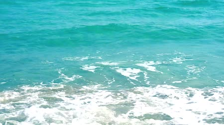 tarde : wave move to beach blue aqua color of water in sea