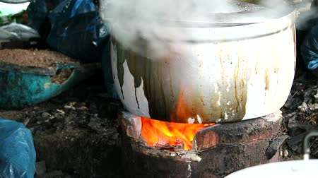 charcoal stove : Cooking using charcoal stoves is a way of rural people