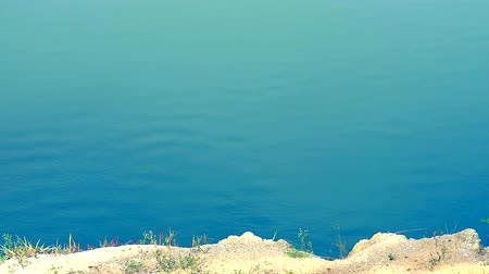 à beira do lago : blue color wave on water surface in the lake