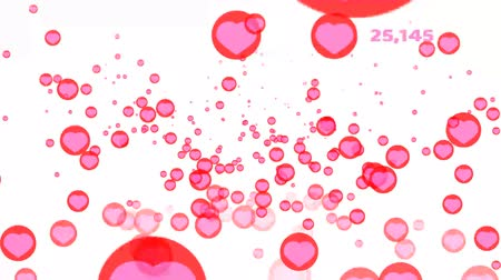luty : million count text of hearts flying start soft and increase by times isolated background