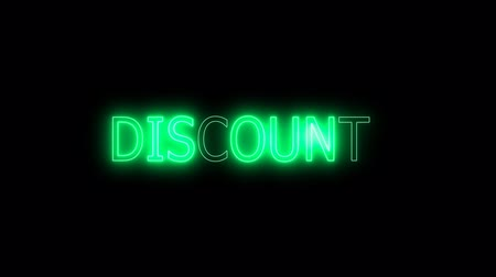 brochura : discount orange mark glow end offset Stock Footage