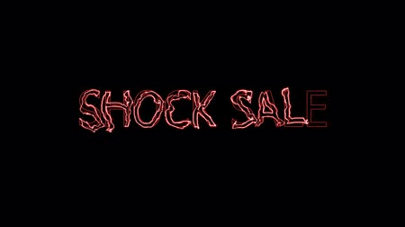 cartelloni : shock sale red wavelet mark glow end offset Filmati Stock