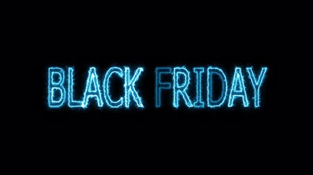 割合 : black friday text electric mark glow end offset 2