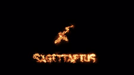 strzelec : sagittarius text saber effect and zodiac symbol is slowing appear