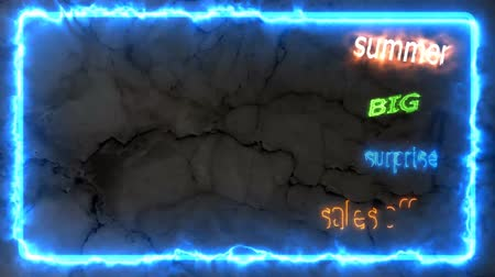 summer big sales off 80 per cent text border effect with marble background