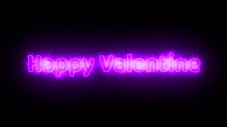 valentine text arc reactor pink light effect