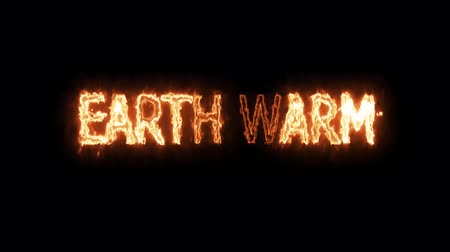 typographie : earth warm fire mark glow end offset