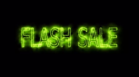 割合 : flash sale green electric mark glow end offset 動画素材