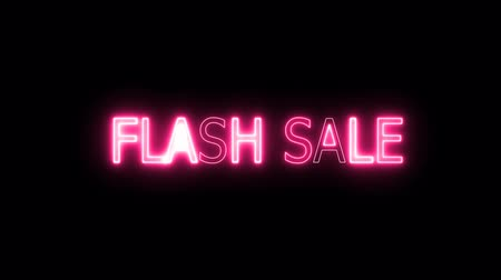 cartelloni : flash sale neon mark glow end offset Filmati Stock