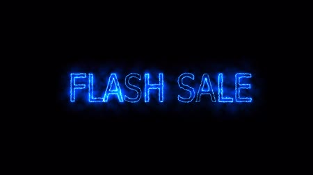 cartelloni : flash sale proton mark glow end offset Filmati Stock