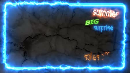 summer big sales off 80 per cen text border effect with marble background