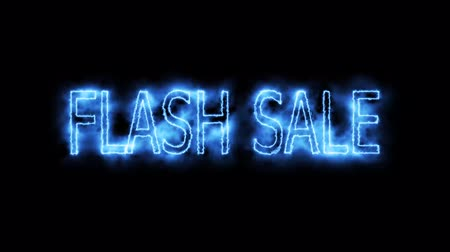 flash sale blue energize mark glow end offset animation for advertise and banner