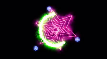 Hexagon fire around power overwhelming slow rotate and three magic star